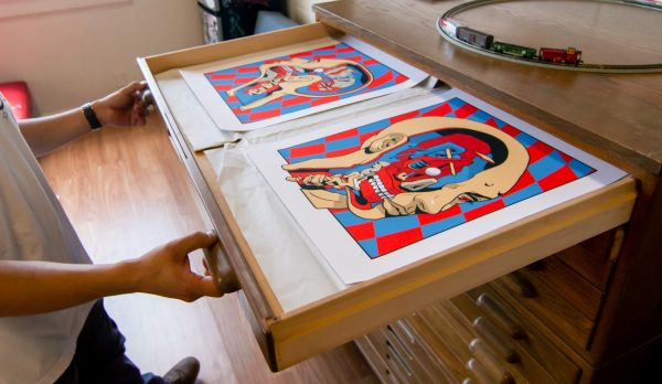 """""""Cold Expression Face 1 & 4"""" by Smithe One from Monterrey, Mexico. Serigraph"""