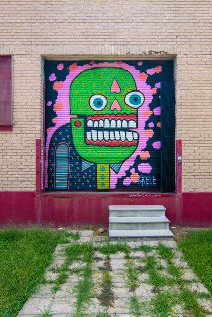 Skele, an Austin street artist
