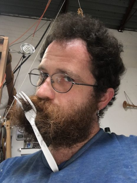 Jeff Gibbons in his studio