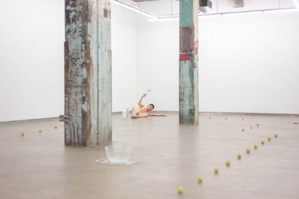 Sungjae Lee, performance documentation from Whiteyellowhite, 2017-2019.