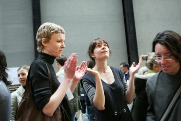 Nina Jan Beier and Marie Jan Lund Clap in Time (All the People at Tate Modern) 2007