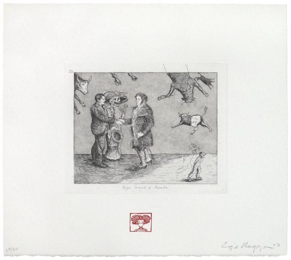 Enrique Chagoya, Goya Meets Posada (Goya conoce a Posada)