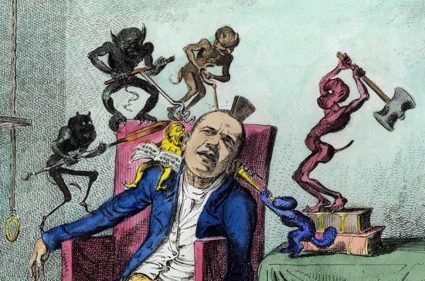 Enrique Chagoya, The Head ache, detail.
