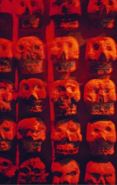 Stone Tzompantli (skull rack), Templo Mayor Museum, Mexico City