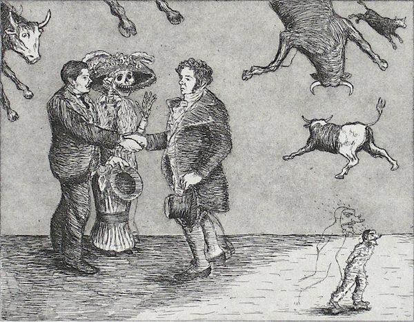 Enrique Chagoya, Goya Meets Posada, detail.