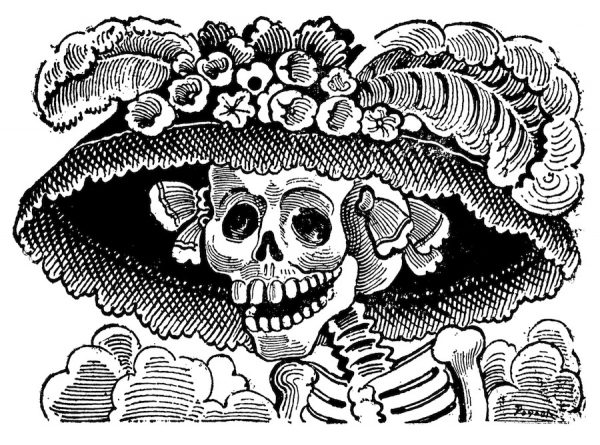 José Guadalupe Posada, image created for Day of the Dead broadside