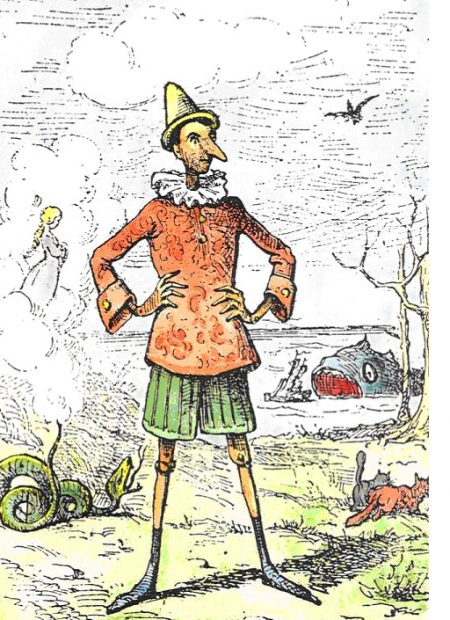 Enrico Mazzanti, illustration of Pinocchio