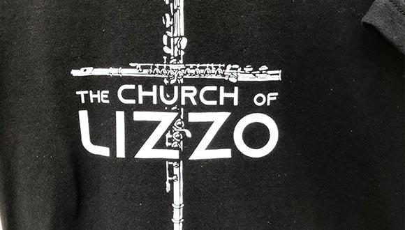 Church-of-Lizzo-t-shirt-at-ArtsGoggle-Fort-Worth