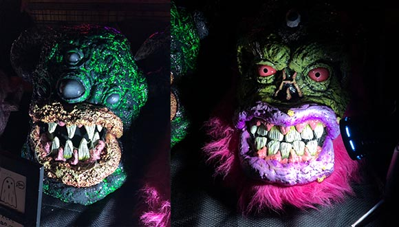 Creepy-Halloween-masks-at-ArtsGoggle-Fort-Worth