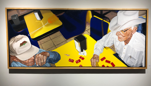 Dairy-Queen-And-Dominos-2001-by-Nancy-Lamb--at-artspace-111-fort-worth