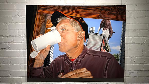 Nancy-Lambs-portrait-of-late-husband-Bob-Powell-at-artspace-111-fort-worth