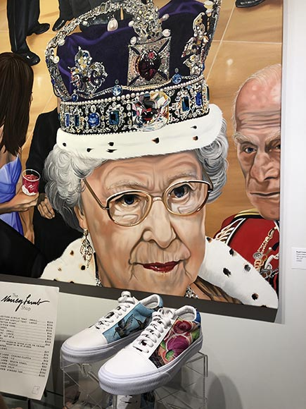 Painted-Sneakers-in-the-Nancy-Lamb-Pop-Up-Shop-at-Artspace-111