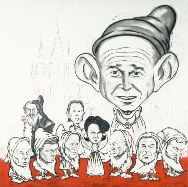 Enrique Chagoya, Untitled (Snow White and the Seven Dwarfs), 2004,