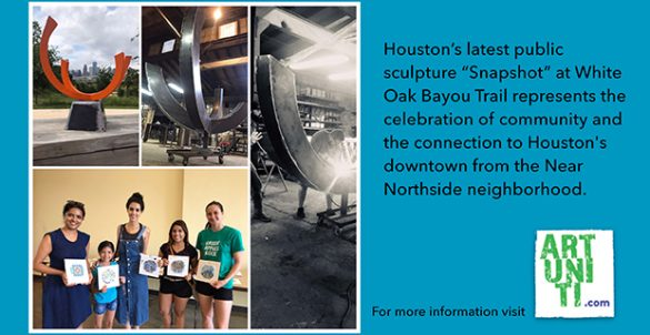 """""""Snapshot"""" Sculpture at White Oak Trail in Houston November 18 2019"""