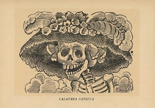 José Guadalupe Posada (1852-1913), image (now referred to as Catrina) created for Day of the Dead broadside, image design c. 1910