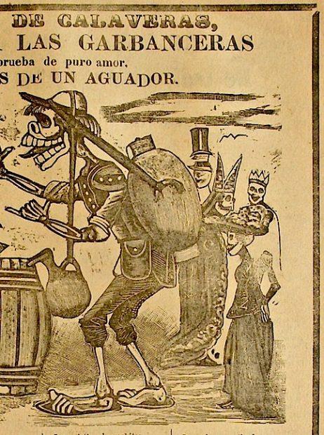 José Guadalupe Posada (1852-1913), Regalo de Calaveras…., detail.