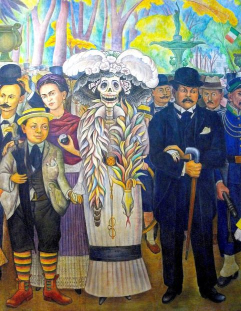 Diego Rivera (1886-1957), A Dream of a Sunday Afternoon in the Alameda Park, 1946-47, detail