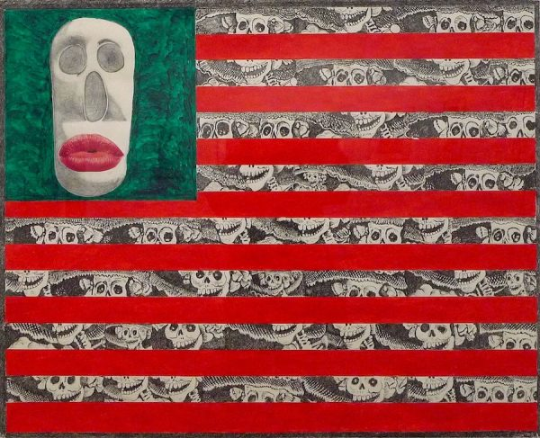 Ruben Trejo (1937-2009), untitled (flag with Catrina stripes), 2003