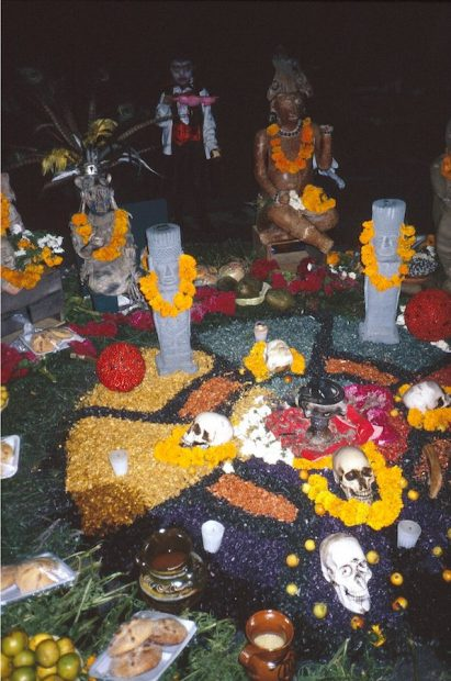 Zocalo, Indigenous altar and Cotton Candy Vampire, 2004
