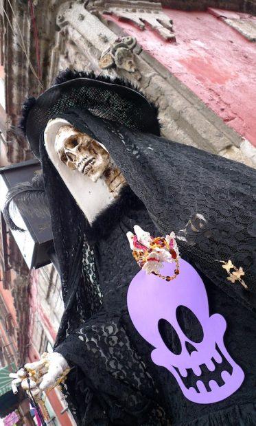 Santa Muerte wearing Catrina Hat, 2009