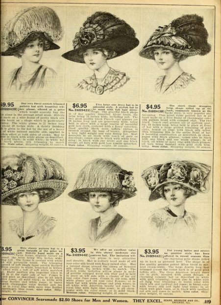 Page from Sears, Roebuck and Co., catalogue, 1912.