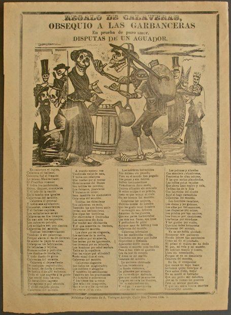 José Guadalupe Posada (1852-1913), Regalo de Calaveras, Obsequio a las Garbanceras, En prueba de puro amor, Disputas de un Aguador