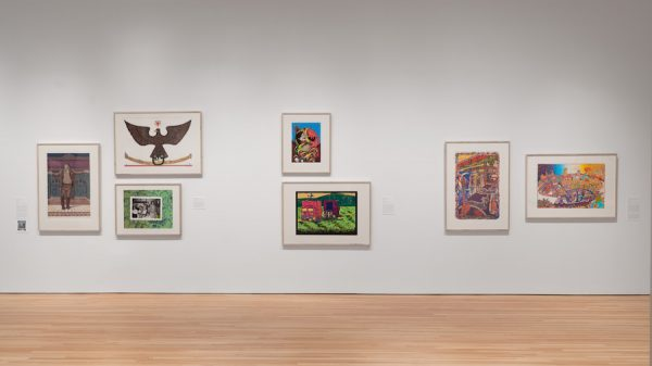 View of Arte Sin Fronteras: Prints from the Self Help Graphics Studio at the Blanton Museum of Art