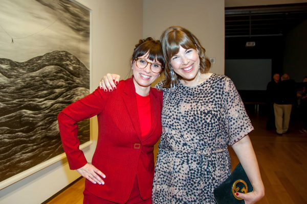 Robyn O'Neil and curator Alison Hearst