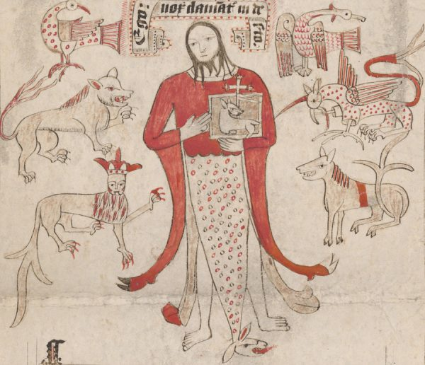John the Baptist, from Prayer Scroll, Percival, Canon (active 1500)