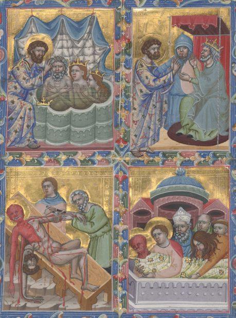 Martyrdom of St. Bartholomew, from Hungarian Anjou legendary single leaves, Italy or Hungary, 1325-1335