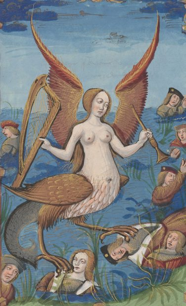 Siren, from Abus du Monde (The Abuses of the World), France, Rouen, ca. 1510