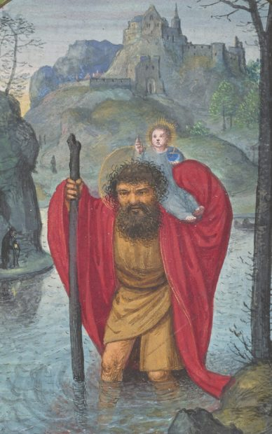 St. Christopher Carries Christ Child
