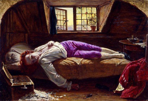 Henry Wallis, Chatterton, 1855-56