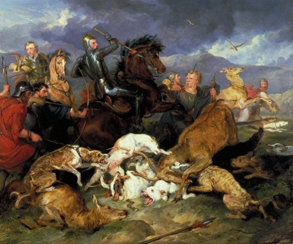 Edwin Henry Landseer, The Hunting of Chevy Chase, c. 1825-26