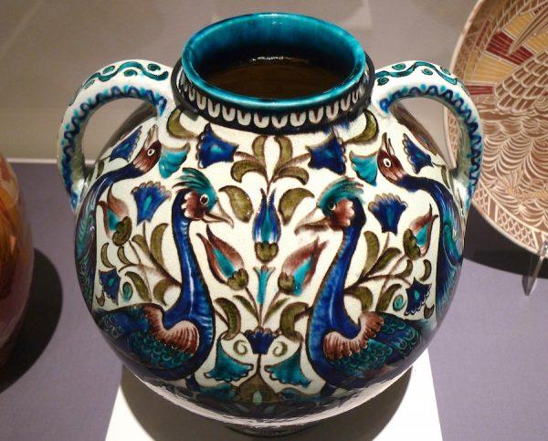 William Frend De Morgan, designer, vase, c. 1885