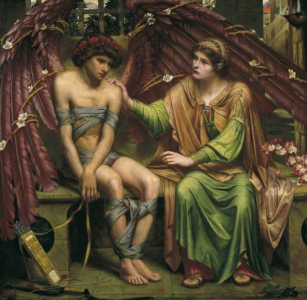 Sidney Harold Meteyard, Hope Comforting Love in Bondage, 1901
