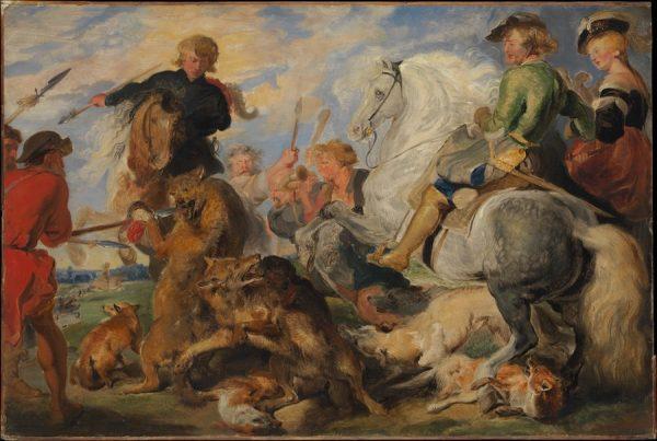 Edwin Henry Landseer, Copy after Ruben's Wolf and Fox Hunt, c. 1824-26