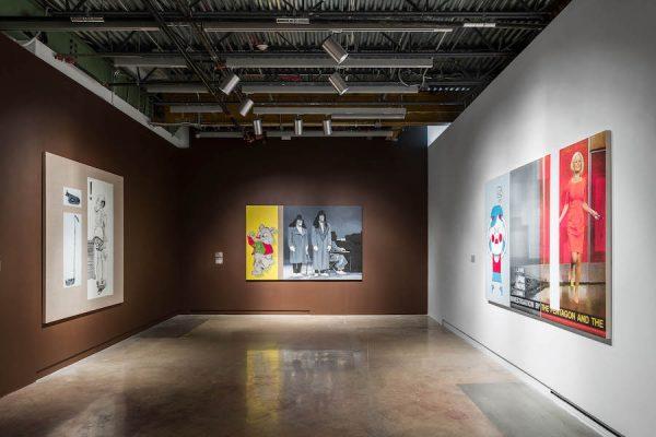 Julia Wachtel's work in an installation view.