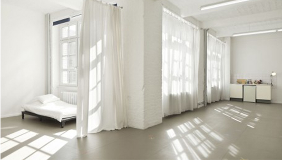 Artist-Studio-and-Living-Space-at-Künstlerhaus-Bethanien-residency-from-Blue-Star-Contemporary