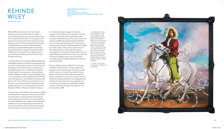 Kehinde-Wiley-page-from-The-Modern-Collection-Highlights-Catalog
