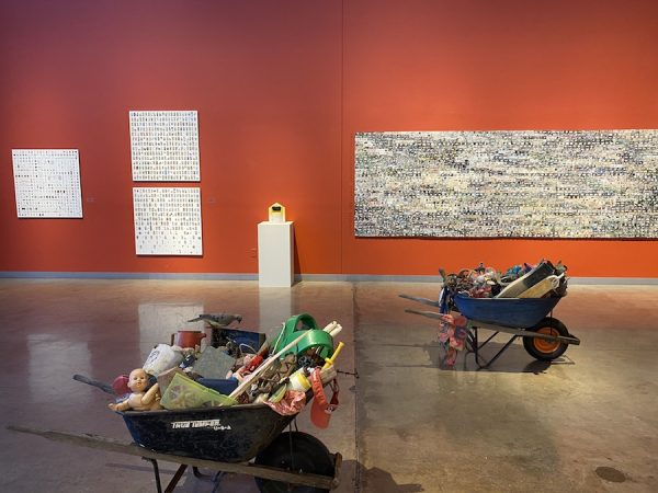 """Installation view of Becky Wilkes' """"Ditched"""" at LHUCA"""