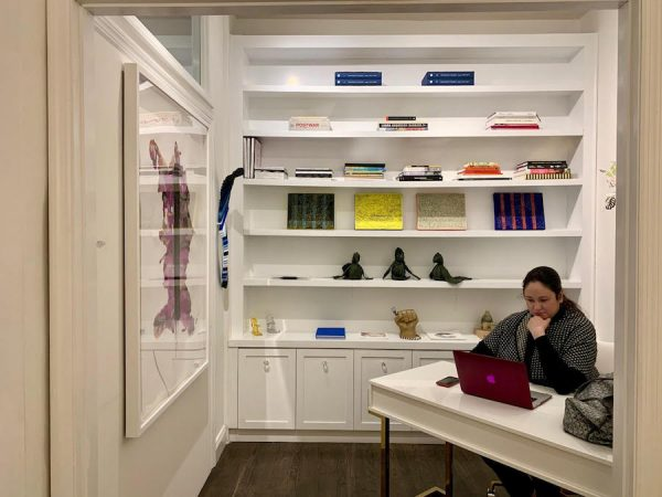 Patti Ruiz-Healy in the New York gallery office.