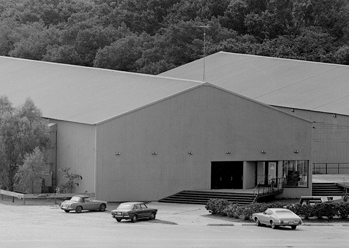 The Rice Media Center building ca. 1970.