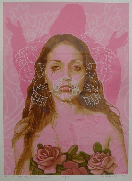 Alma López, La Llorona Desperately Searching for Coyolxauhqui (2003)