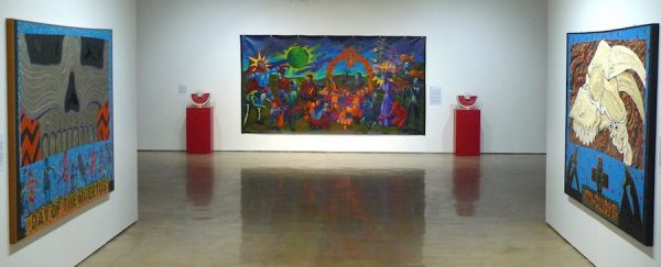 Works by Mel Casas and Enrique Martinez.