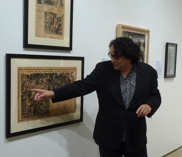 Dr. Ruben Cordova with work by Posada