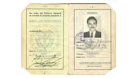Gabriel García Márquez's Passport