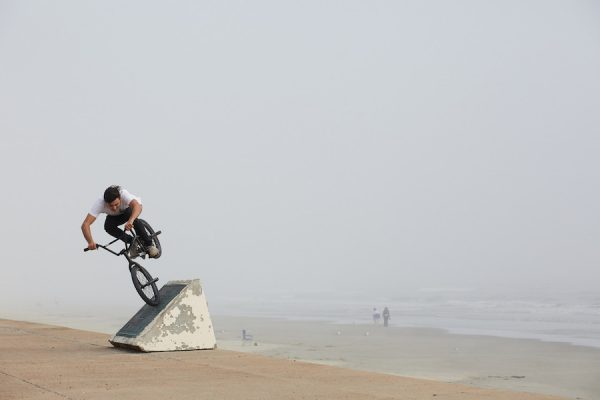 Leonid Riding on the Seawall