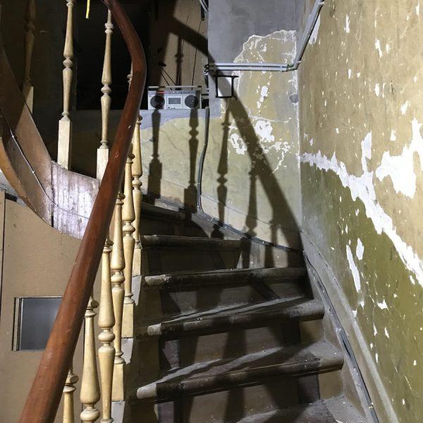 Stairwell between floors at Artist Commons Brussels
