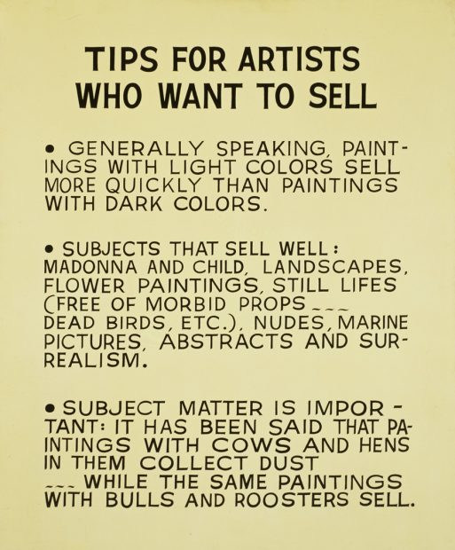 painting by artist JOHN BALDESSARI